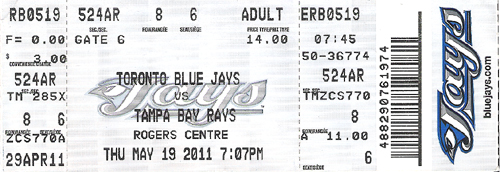blue jays game today tickets
