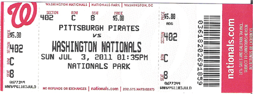 2011 Game Tickets – Sports Ticket Template