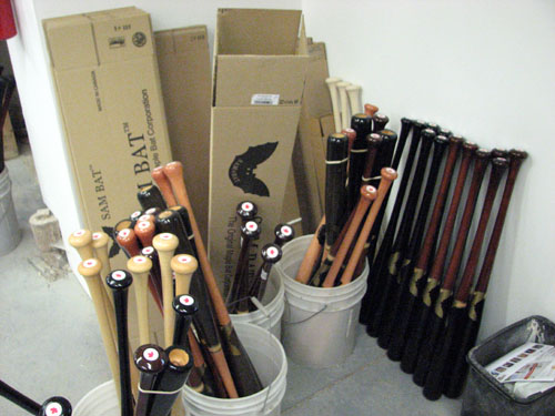 Sam Bat Factory Tour – June 13 | The Ballpark Guide Images Of Finished Bats on