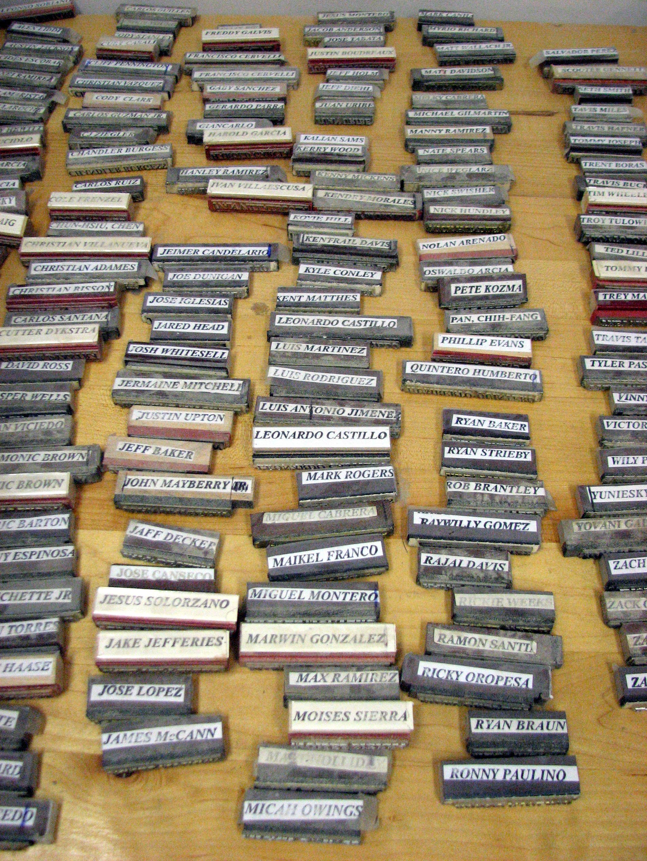 Sam Bat Name Stamps