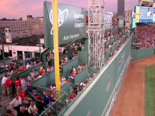 Fenway Park Green Monster Seats Panorama Third Base Standing Room
