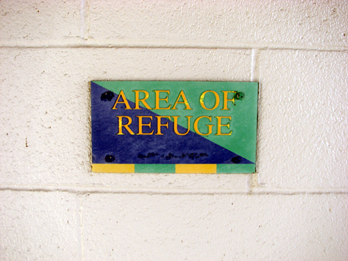nbt-bank-stadium-area-of-refuge-sign