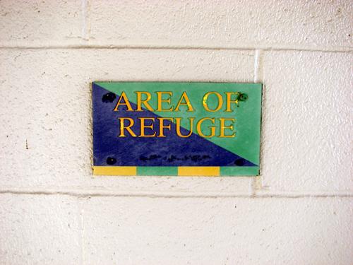 nbt-bank-stadium-area-of-refuge-sign