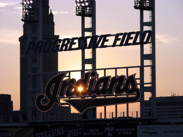 progressive-field-sunset