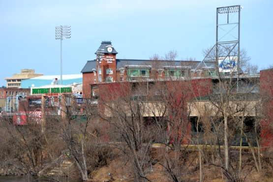 northeast-delta-dental-stadium-hilton-garden-inn-from-bridge