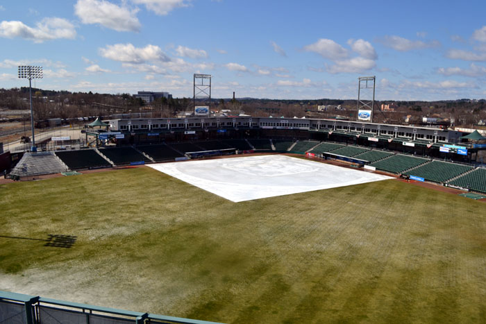 northeast-delta-dental-stadium-snow-melting