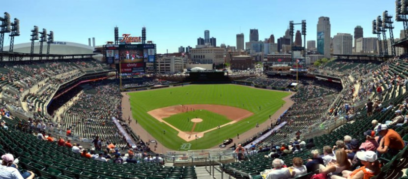 Comerica Park Upper Deck Behind Home Plate Panorama