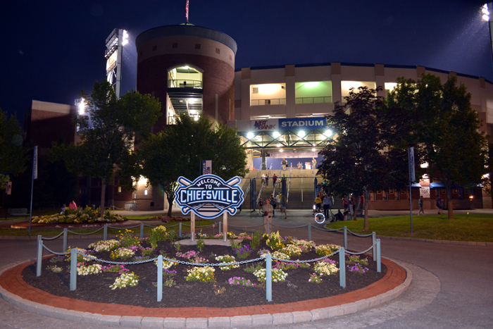 syracuse-chiefs-nbt-bank-stadium-front-night