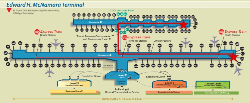 detroit-airport-map-my-route