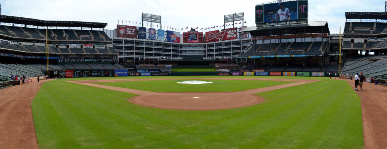 Globe Life Park Pano Behind Home Plate