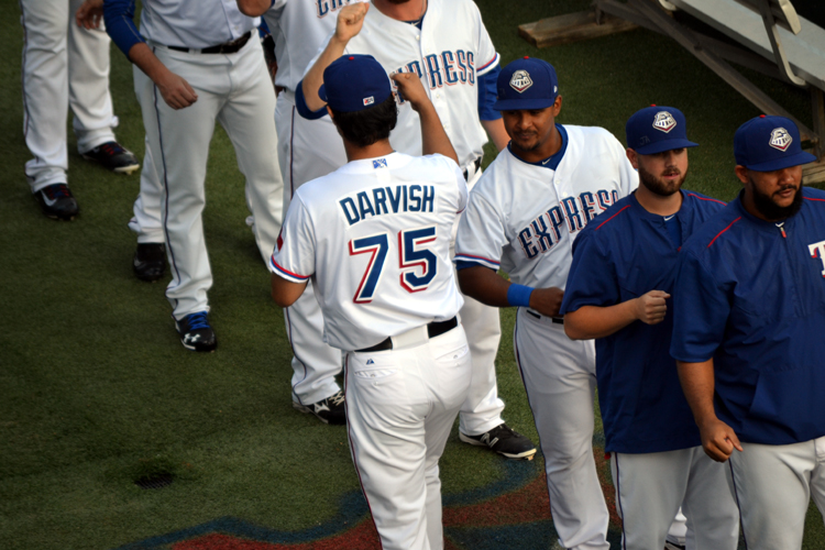 round-rock-express-yu-darvish-fist-bumps