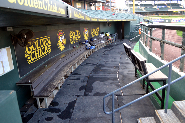 dell-diamond-empty-express-dugout