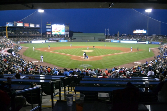 dell-diamond-home-plate-view-night