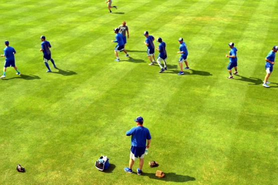 dell-diamond-okc-warming-up