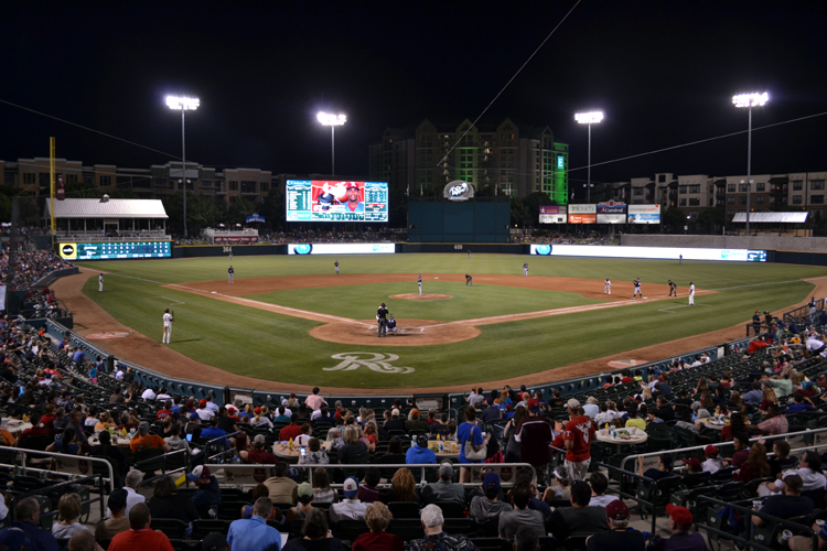dr-pepper-ballpark-night-view-home-plate